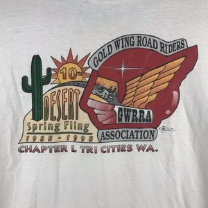 Fruit of the Loom Shirts - VTG 1995 Desert Spring Fling Gold Wing Road Riders